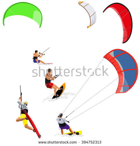 Kitesurf Stock Photos, Royalty.