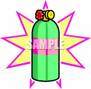 Air Supply Tank For Scuba Diving Clipart Image.