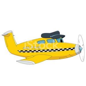 Air taxi Clipart Image.
