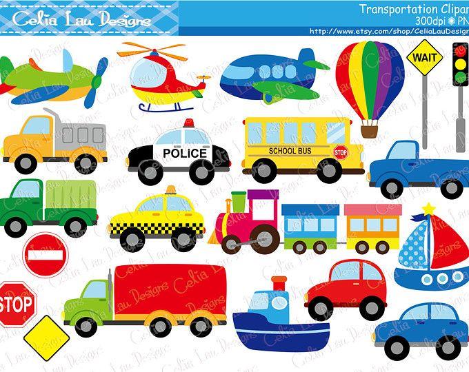 Transportation Clip Art Clipart with Car, Truck, Train.