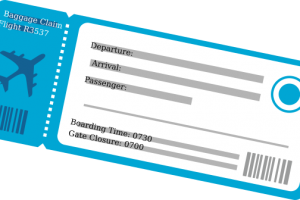 Airline ticket clipart » Clipart Station.