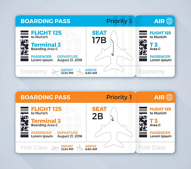 Best Airplane Ticket Illustrations, Royalty.