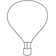 Air balloon clipart black and white.