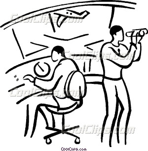 Air traffic control clipart #9