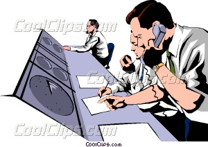 Air traffic controllers Vector Clip art.