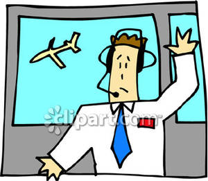 Air traffic control clipart.