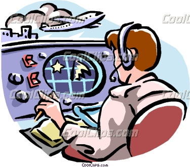 Air Traffic Controller Clipart.