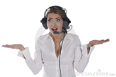 Air Traffic Controller And Microphone Stock Photo.
