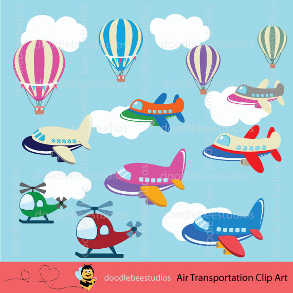 Air Transportation Clipart Air Transport Clip by doodlebeestudios.