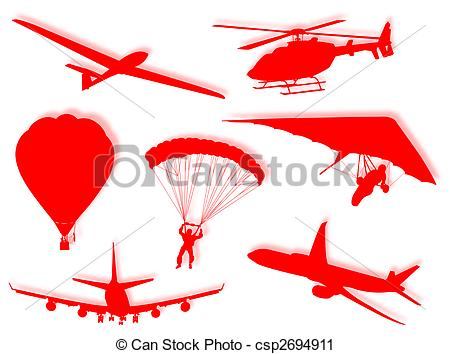 Clipart of Air transports.