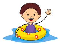 swimming clipart kids #12