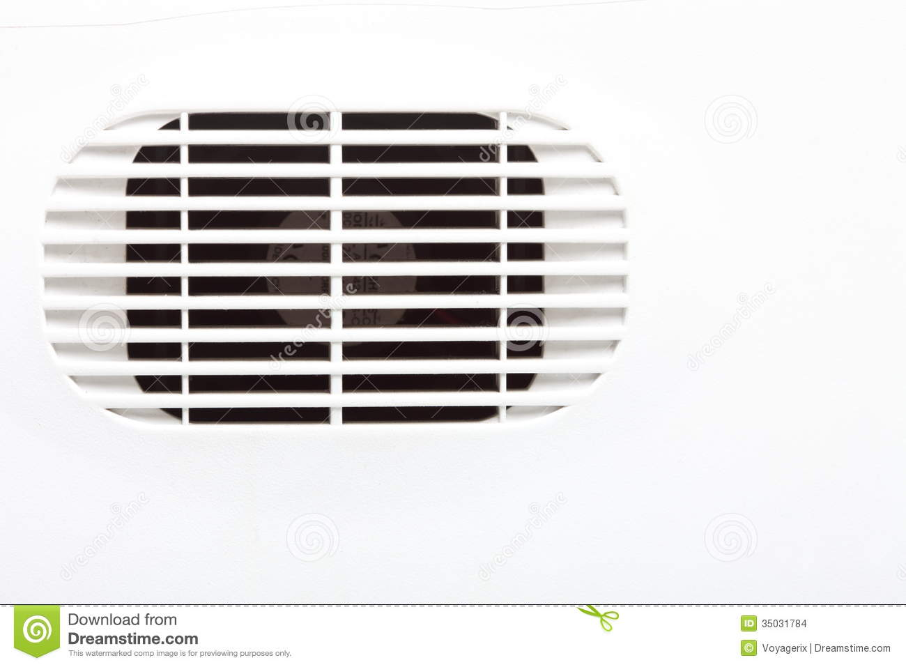 Plastic Air Vent In White Wall Ventilation Grille Stock Images.