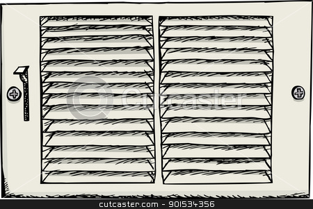 Air Duct Register stock vector.