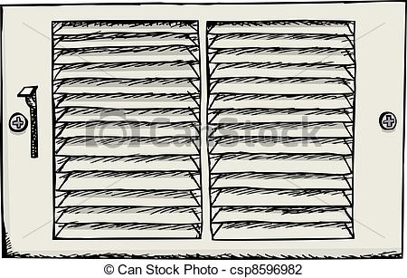 Vector Illustration of Air Duct Register.