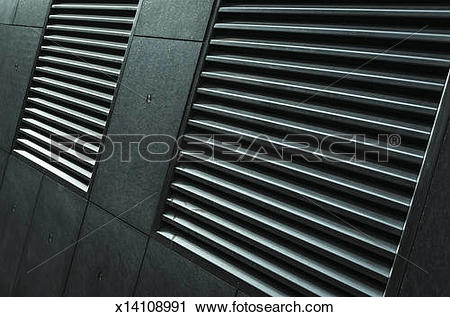 Stock Photography of Air vents on modern office building x14108991.