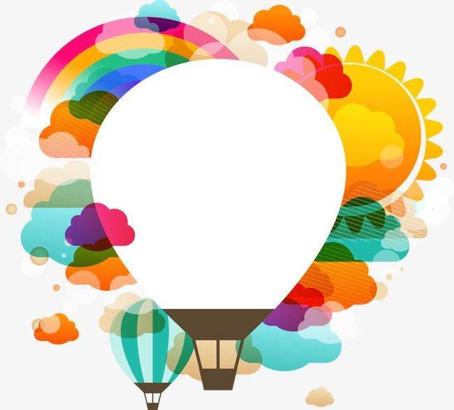 Cartoon Hot Air Balloon Pattern, Cartoon Clipart, Balloon.