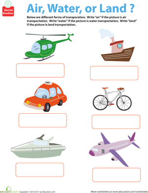 All About Transportation: Air, Water, or Land?.