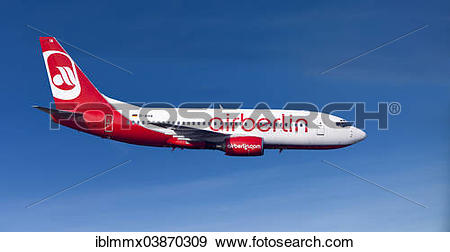 Stock Photograph of Air Berlin Boeing 737.
