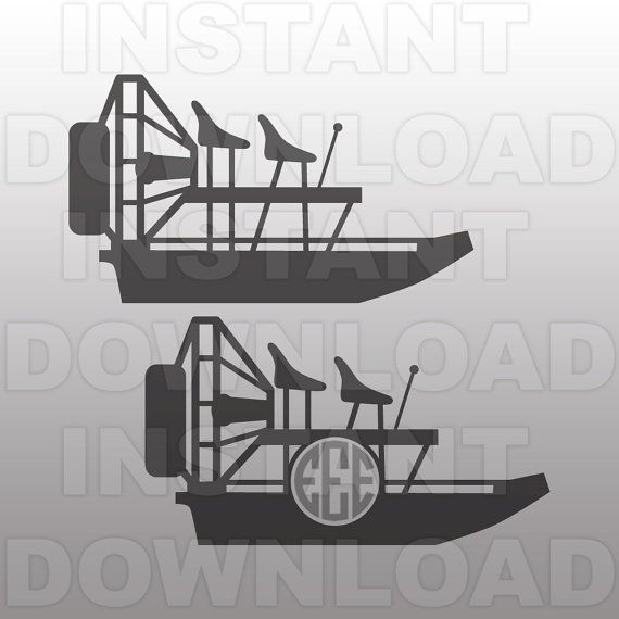 Airboat SVG File Everglades SVG File Vector Art by sammo.