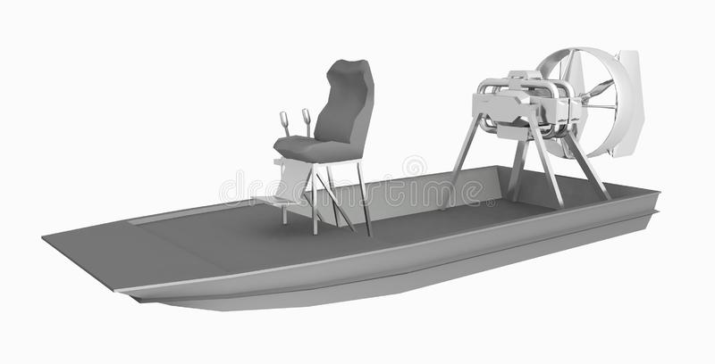 Airboat Stock Illustrations.