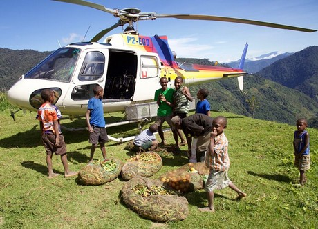 Papua New Guinea: Helicopter company goes into fruit, veg business.