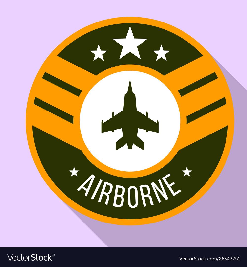 Airborne logo flat style.