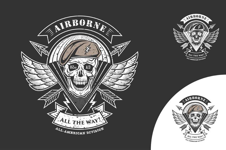 Airborne vector emblem.