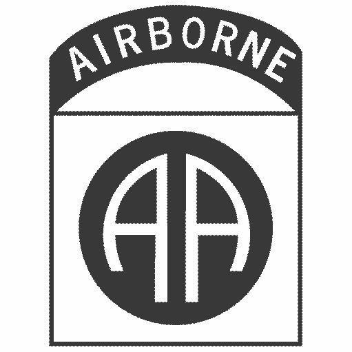 Nuclear Beer Glass with 82nd AirBorne Logo.