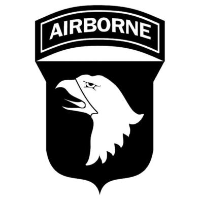 Nuclear Beer Glass with 101st AirBorne Logo.