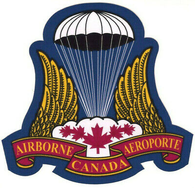 Canadian Airborne Paratrooper, sticker / Decal.