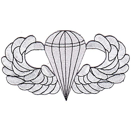 Amazon.com: Airborne Basic Jump Wings Badge Patch: Clothing.