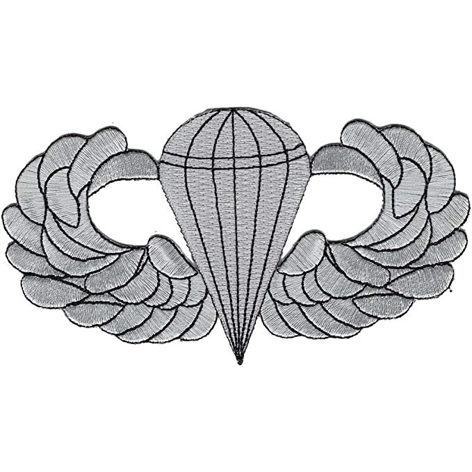 Airborne Basic Jump Wings Badge Patch.