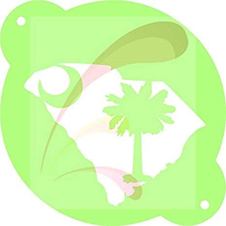 Amazon.com: South Carolina Map Flag, Cookie stencil, Cake.