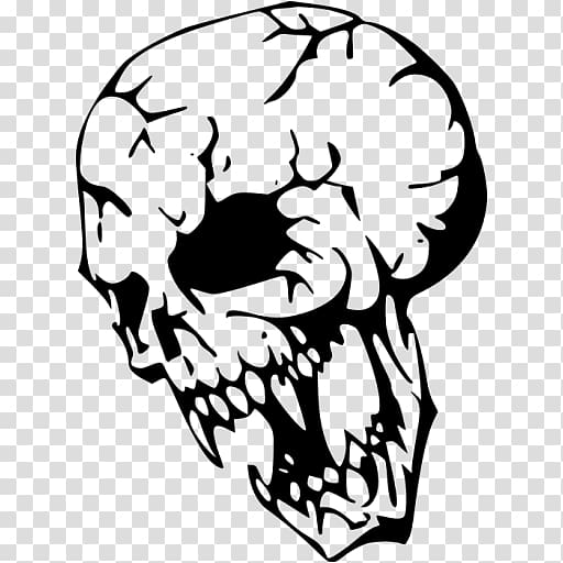 Stencil Airbrush Punisher Skull Art, black skull transparent.