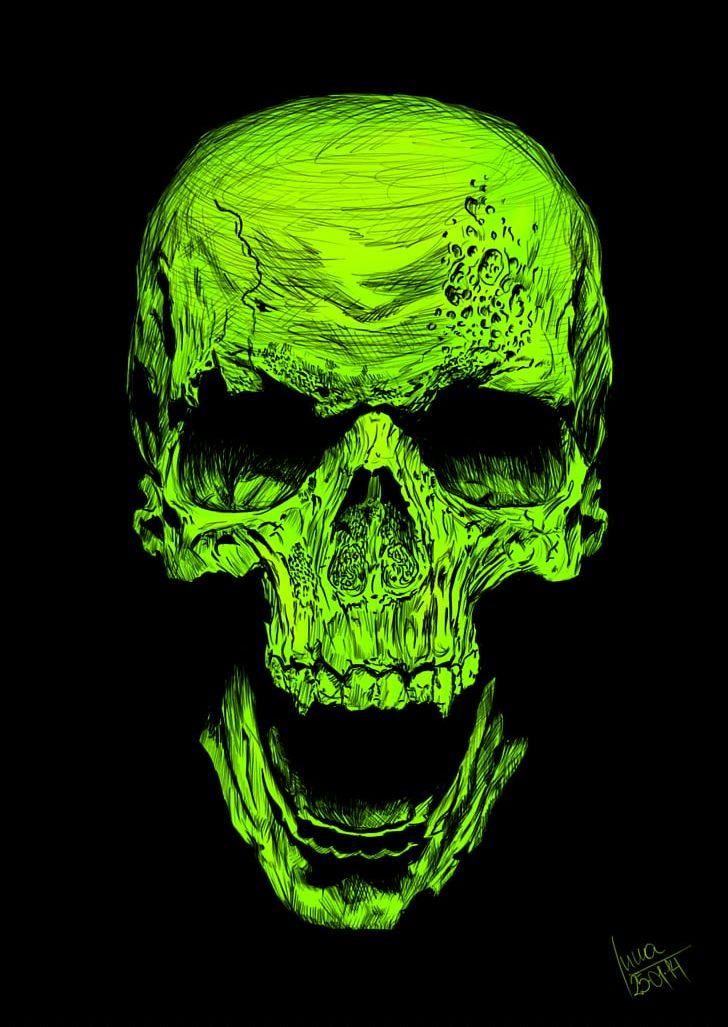Skull Airbrush Drawing Photography Art PNG, Clipart.