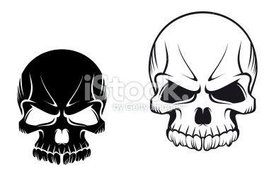 Danger skull for tattoo design in 2019.