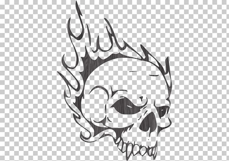 Airbrush Stencil Skull Drawing Schablone, skull PNG clipart.