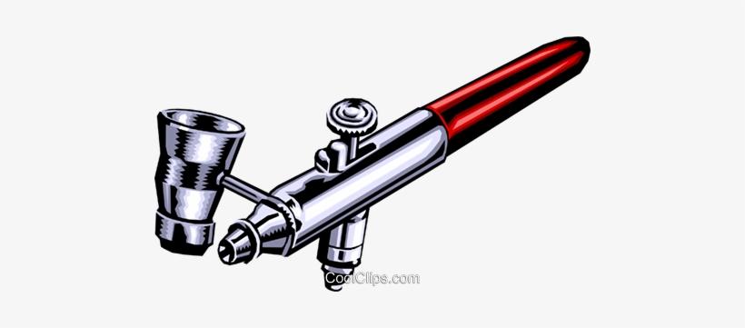 Airbrush Royalty Free Vector Clip Art Illustration.