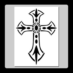 Details about Decorative Gothic Jeweled Cross/Crucifix STENCIL Template  Halloween/Church.