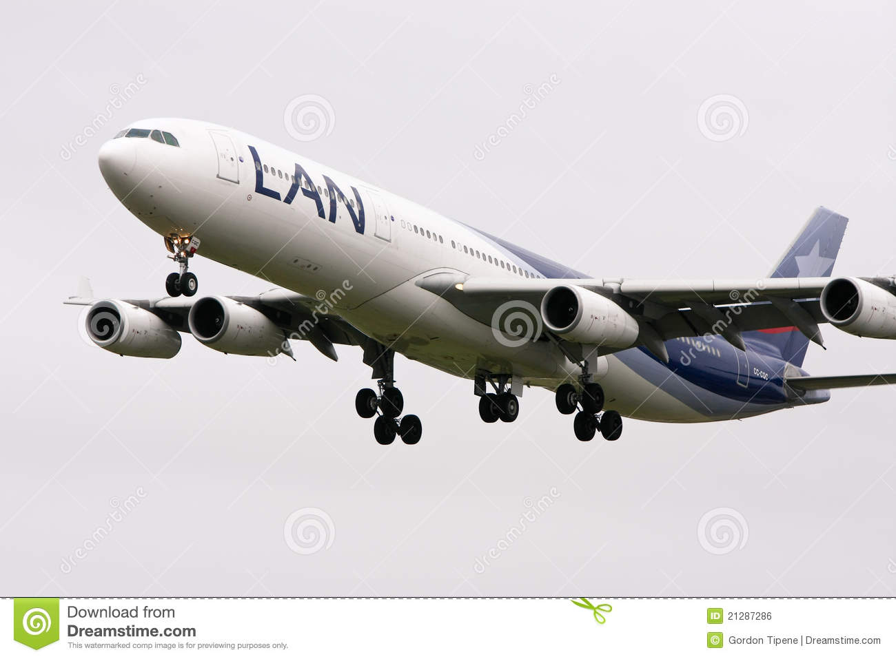 LAN Airlines Airbus A340.