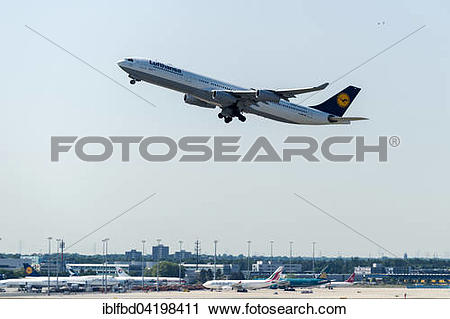 Stock Photography of The Airbus A340.