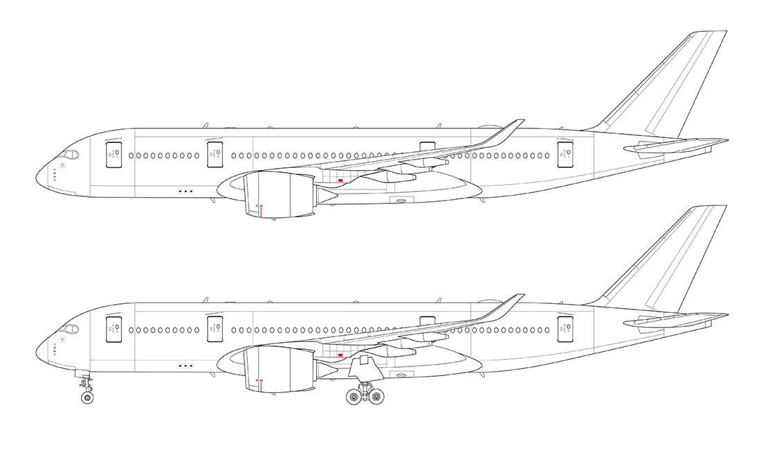 Airbus a350 clipart.