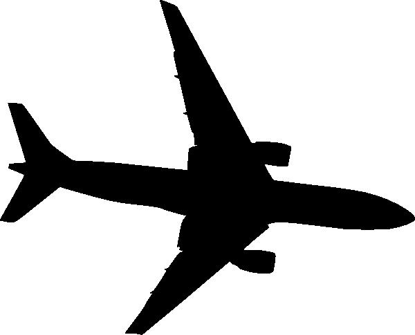 Plane Silhouet clip art Free Vector / 4Vector.