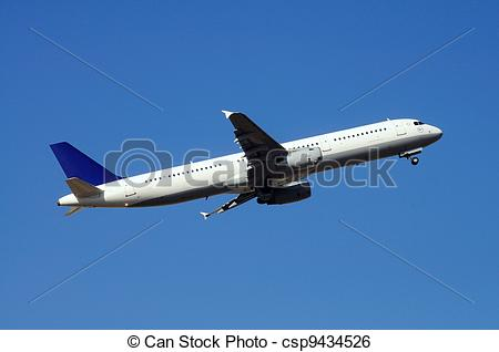 Stock Image of Airbus A321 Airplane..