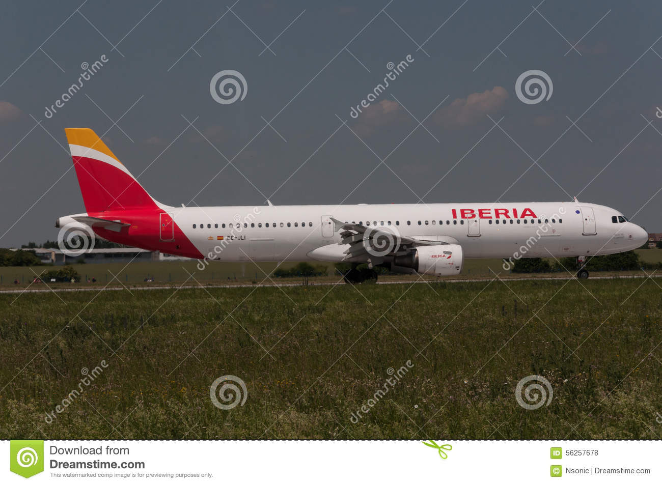 Iberia Airbus A321 Editorial Stock Photo.