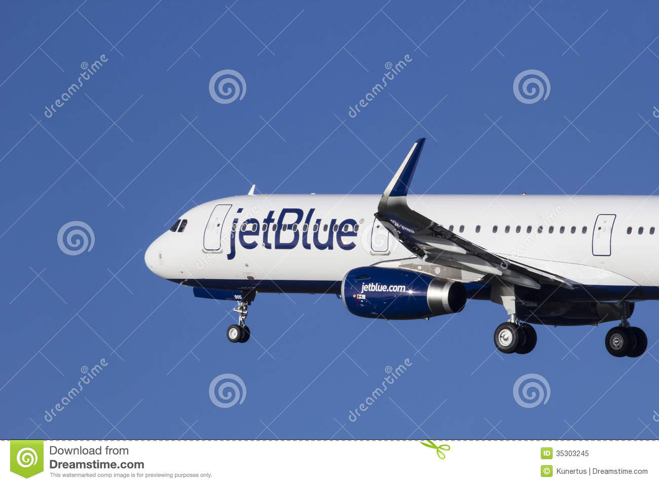 JetBlue Airbus A321 Editorial Image.