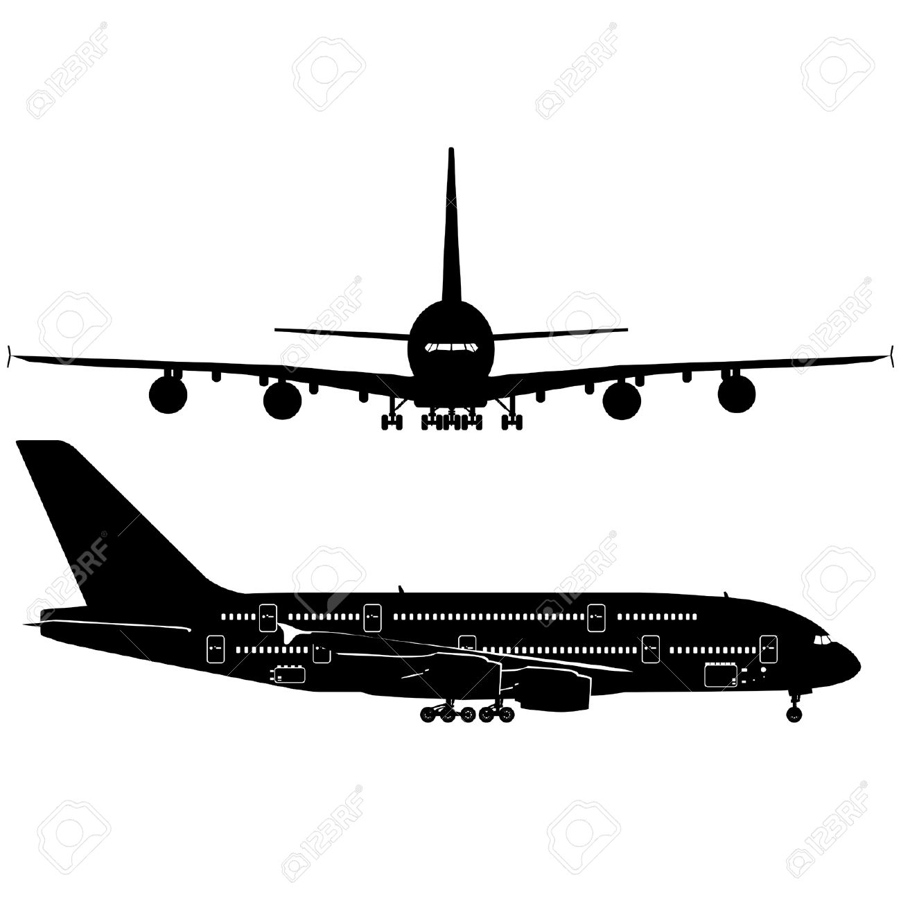 Passenger Jetliner A380 Royalty Free Cliparts, Vectors, And Stock.
