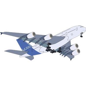 Airbus A380 Clipart.