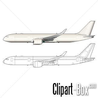CLIPART AIRBUS A350.