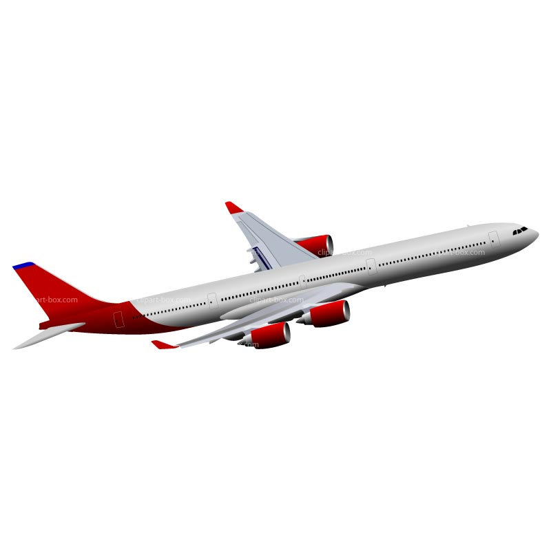 CLIPART AIRBUS A340 FLYING.